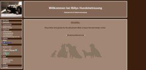 Alte Homepage von Billys Hundebetreuung